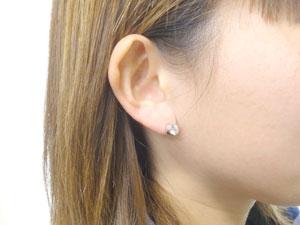 ダイヤモンド0.5ct片方ピアスホワイトゴールドK18【工房直販】