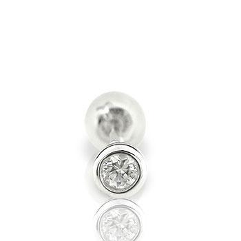 ダイヤモンド0.05ct片方ピアスホワイトゴールドK18【工房直販】