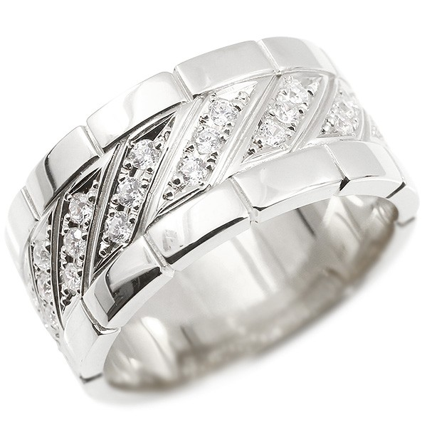 【楽ギフ_包装】 シルバー 3mm ダイヤモンド ハワイアンジュエリー リング メンズ