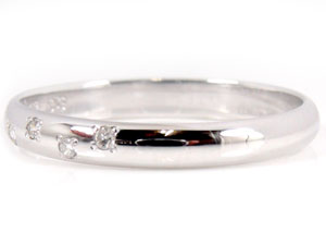 【送料無料・結婚指輪】ペアリングホワイトゴールドK18ダイヤモンド☆2本セット☆指輪【工房直販】