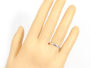 【送料無料:特別価格】ペアリングダイヤモンドピンクサファイアホワイトゴールドK18結婚指輪:結婚記念リング:ハンドメイド☆2本セット☆指輪