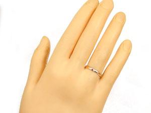 【送料無料】ペアリングホワイトゴールドK18ピンクゴールドK18ダイヤモンド指輪
