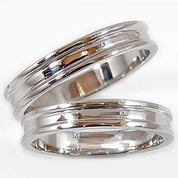 【送料無料・結婚指輪】ペアリング:ホワイトゴールドK18:結婚指輪:K18WG:結婚記念リング☆2本セット☆指輪【工房直販】