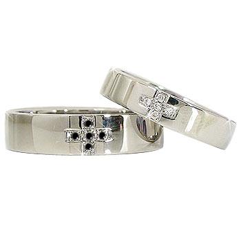 ペアリング:クロス:ダイヤモンド:ブラックダイヤモンド:プラチナ900:PT900
