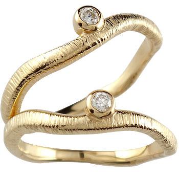 【送料無料・結婚指輪】ペアリング 結婚指輪 マリッジリング ダイヤモンド 一粒ダイヤモンド イエローゴールドk18【工房直販】
