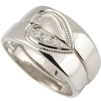 ペアリング プラチナ 結婚指輪 マリッジリング ダイヤモンド ハート