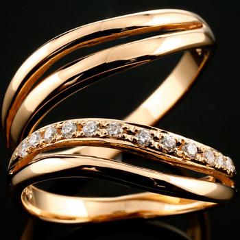 【送料無料・結婚指輪】ダイヤモンドペアリング,マリッジリング,プラチナ900☆2本セット☆指輪【工房直販】