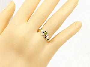 【送料無料】ペリドット,天然ダイヤモンド,指輪 小指用にも【工房直販】