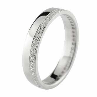 クロス ペアリング 結婚指輪 ダイヤモンド マリッジリング プラチナ イエローゴールドk18