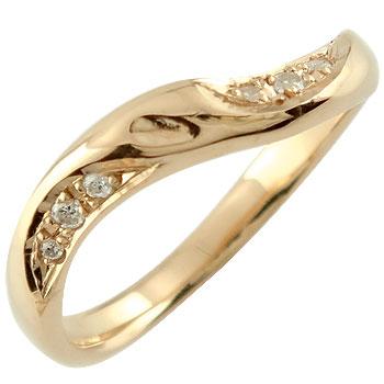 婚約指輪 エンゲージリング ダイヤモンド ピンクゴールドk18