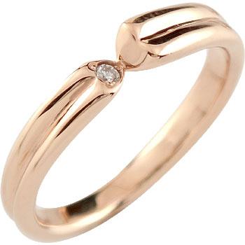 ダイヤモンド リング 一粒ダイヤモンド 婚約指輪 エンゲージリング ピンクゴールドk18