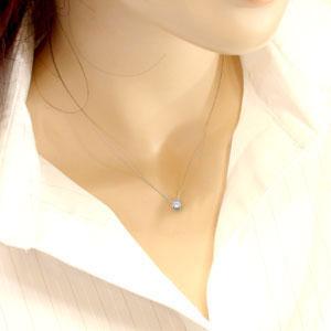 一粒ダイヤモンド:ネックレス:ペンダン