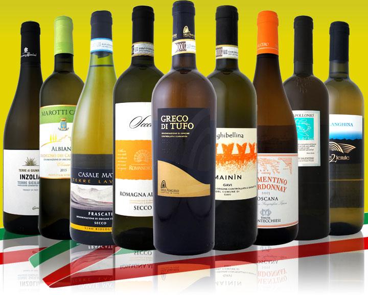 【送料無料】≪バラエティ豊かな個性を大満喫!!≫激旨イタリア白ワイン9本セット!!