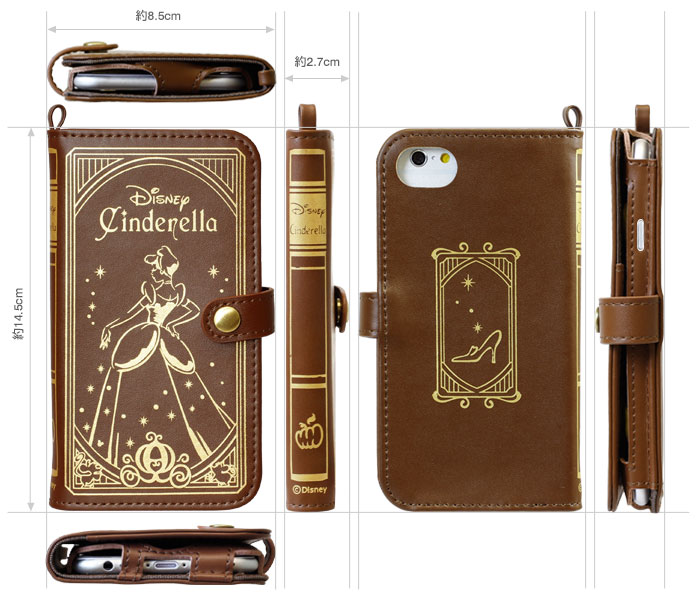 Old Book Case For Iphone : Kawaiikan disney character old book case princess for
