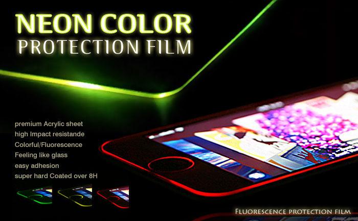 [iPhone SE/5s/5c/5専用]NEON COLOR PROTECTION FILM ネオンカラープロテクションフィルム(Apple)