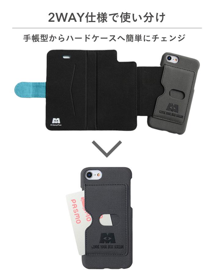 675e8feb1a 手帳を閉じたまま電話できる・スマホスタンドにも・ハードケース背面と手帳型ケース内側にカードポケット×2