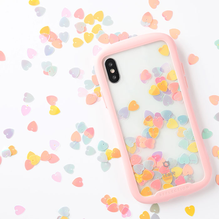 [iPhone XS/X/XR/8/7専用]iFace Reflection Pastel強化ガラスクリアケース
