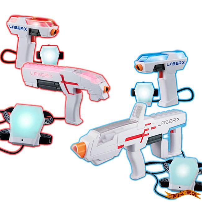 【お得なセット/4人同時プレイ】レーザークロスシューティング フルオート+シングル+コンパクトダブルセット