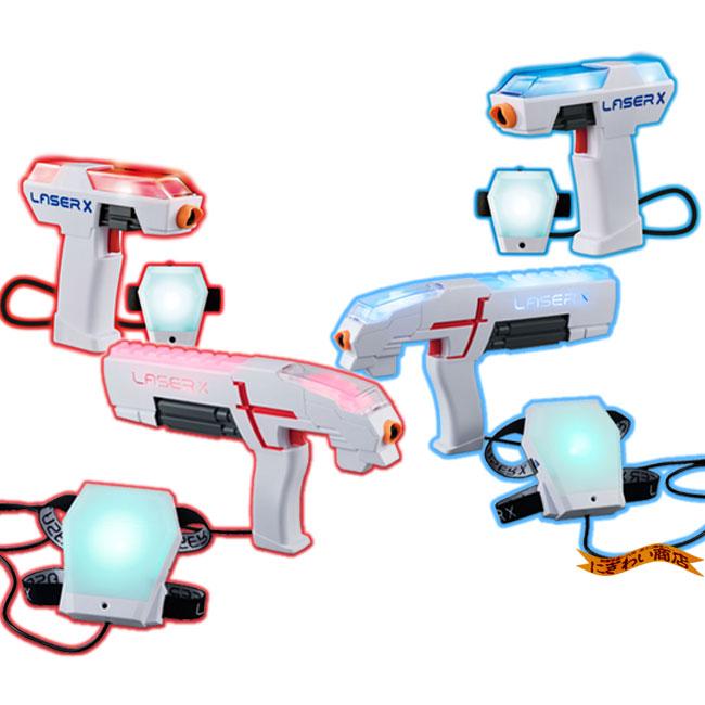 【お得なセット/4人同時プレイ】レーザークロスシューティング シングル 2台 + コンパクトダブルセット