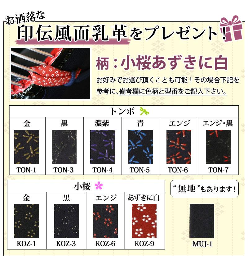 剣道 防具 セット 5ミリ ピッチ刺し 実戦型 朱音 印伝風面乳革 サービス