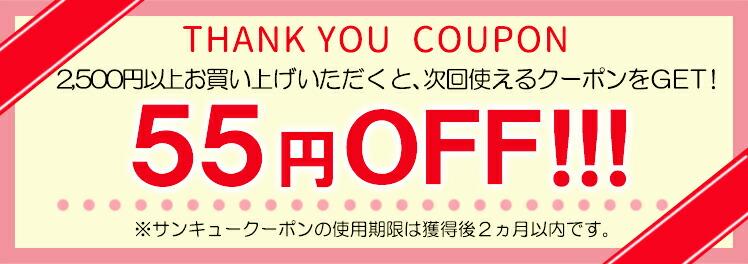 55円OFFクーポン配布中