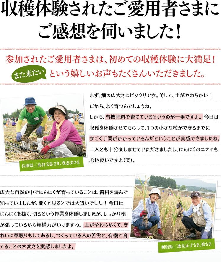 収穫体験されたご愛用者さまにご感想を伺いました!