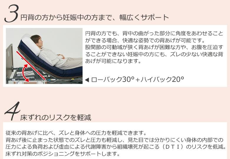 円背の方から妊婦さんまでサポート 床ずれリスクの軽減
