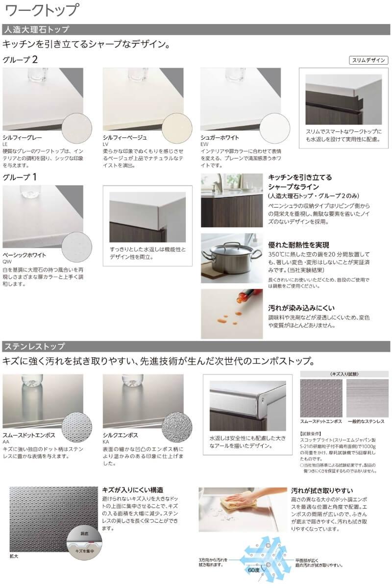 システムキッチンの天板
