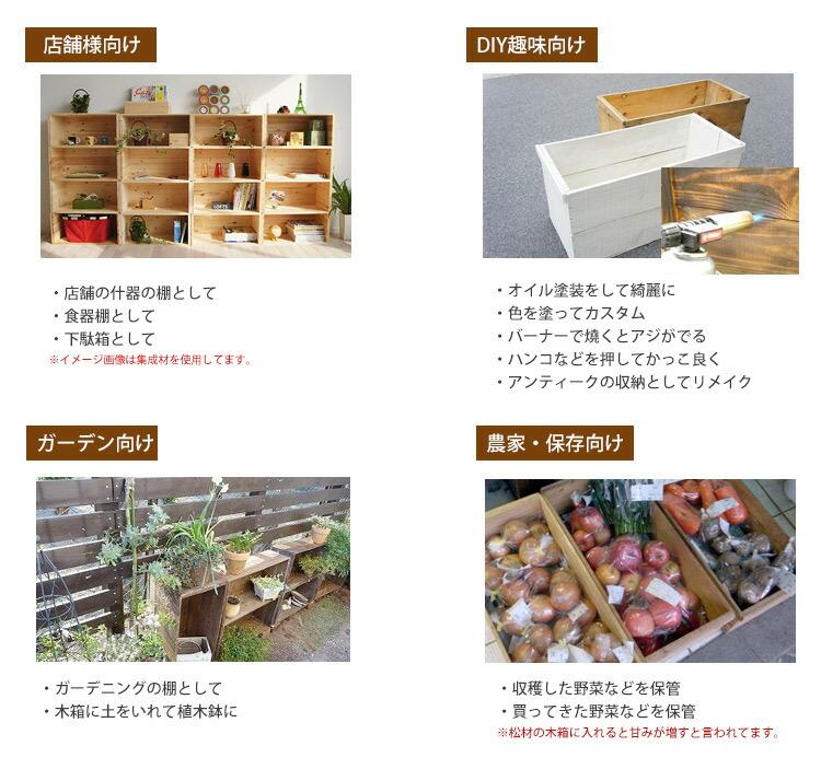 りんご木箱 使用例