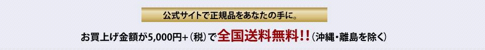 お買い上げ金額が5000円+税で全国送料無料!!(沖縄・離島を除く)