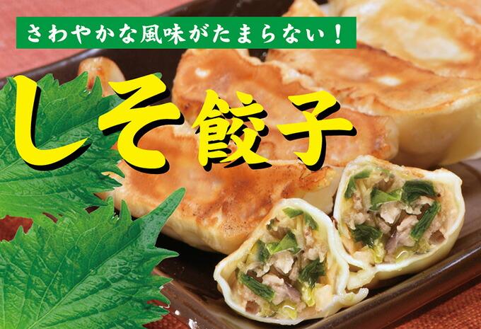 風味豊かなシソ餃子