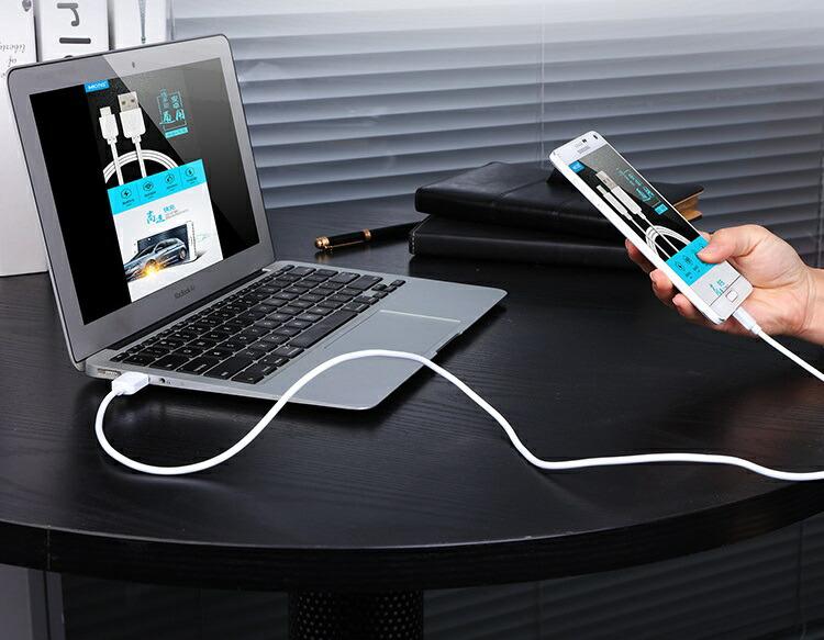 android アンドロイド スマホ USB 充電 データ転送 ケーブル 端子長さ8mm
