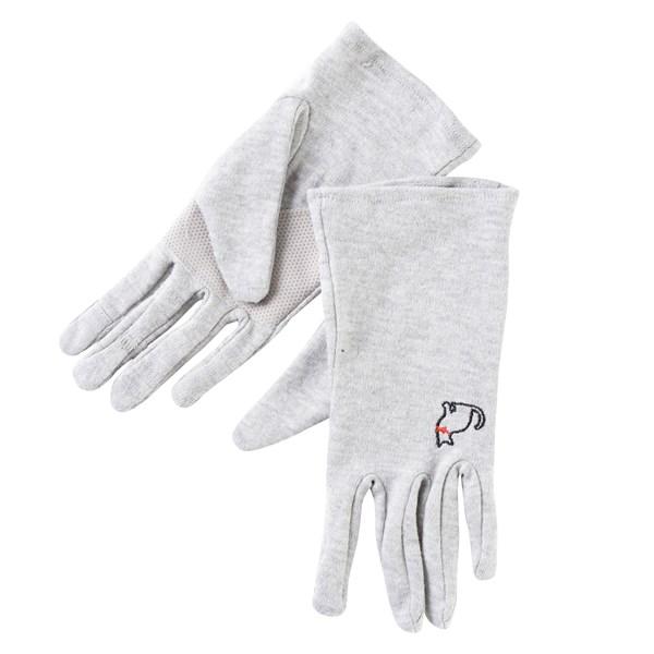 抗ウィルス5本指uvカット手袋 抗菌防臭 静電気防止 滑り止め付き