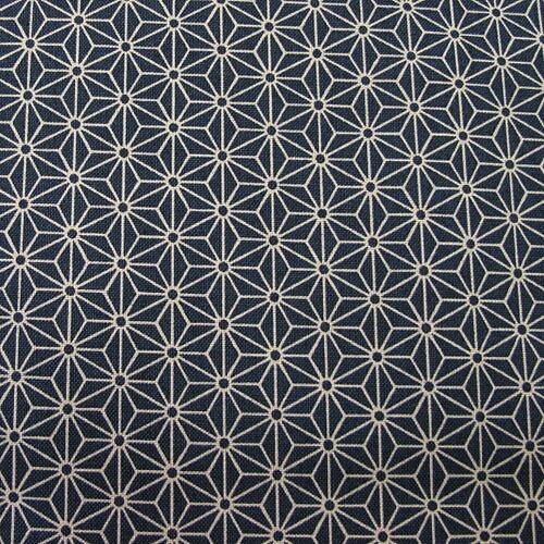 【楽天市場】和柄生地 シンプル麻の葉柄 スミ黒 和調 和柄 布:生地BANK
