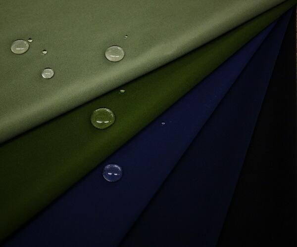 ポリエステル100%スムースニット 完全防水加工&撥水コーティング無地全5色♪裏面はサラッとしたゴム引き 巾140cm 日本製 布 生地 布地 服地 通販  撥水加工 エコバッグ レイングッズ 防水生地 防水布