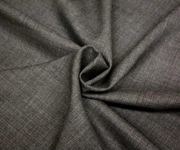 日本製上質ウール/ポリエステル混ピッケ調ミニツイル(綾織り)杢グレー無地♪w巾150cm 防縮加工 布 生地 布地 服地 通販 ウール生地 毛 サマーウール