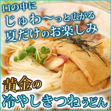 【夏季限定】じゅわ〜っと広がる美味しさ黄金の冷やしきつねうどんセット