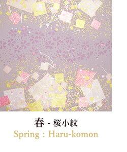 春の柄/桜小紋