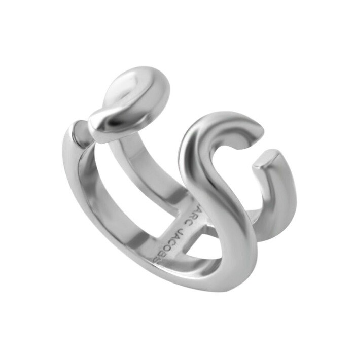 マークジェイコブス MARC JACOBS M0009229-040 #7 Silver 「J」ロゴモチーフ アイコン リング 指輪 日本サイズ14号相当 Icon Band Ring