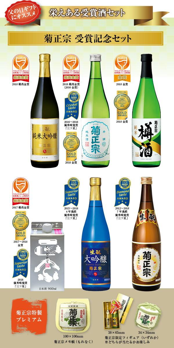 ギフトにおすすめしたい、栄えある受賞酒のセット「菊正宗 受賞記念セット」