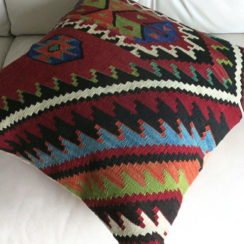 GalataBazaar: Old Kilim Cushion Cover, Turkish Hand Weaven