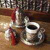銅製カフェカップシルバー2客セット