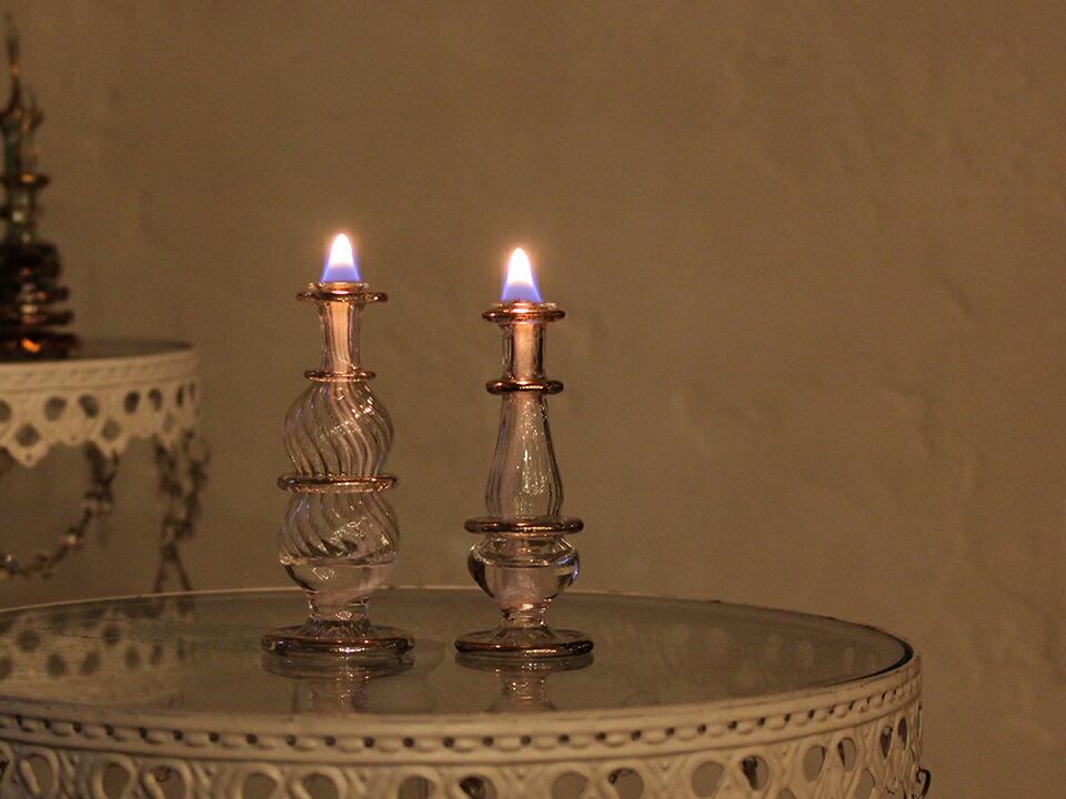エジプト香水瓶オイルランプセット夜
