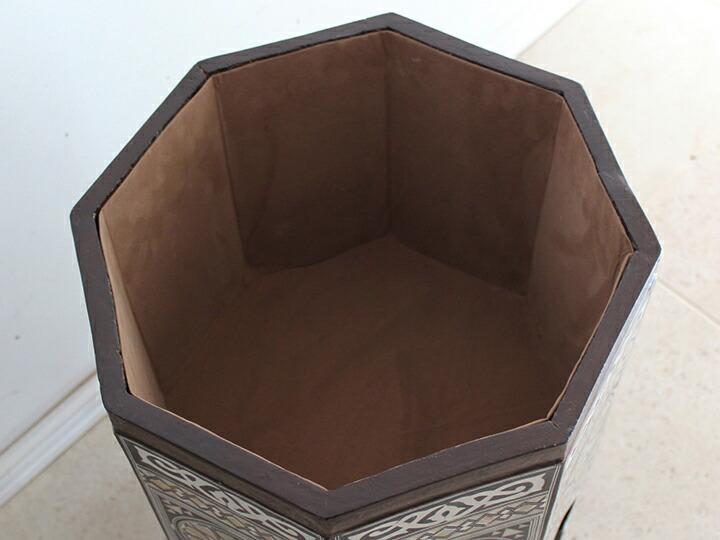 螺鈿家具 Mother of Pearl エジプト螺鈿の工芸家具<br>サイドテーブル・オクタゴン・Lサイズ・エジプト製イスラミックな幾何学デザインのテーブル【難あり・訳あり・OUTLET・送料無料】