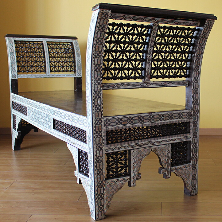 A Syrian Mother Of Pearl Bench Available To Purchase At: Rakuten Global Market: Sofa Inlaid