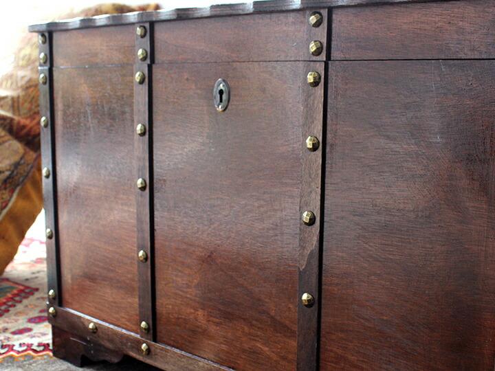 アンティークスタイル・トルコの宝箱サンドゥック W75×H50×D46cm