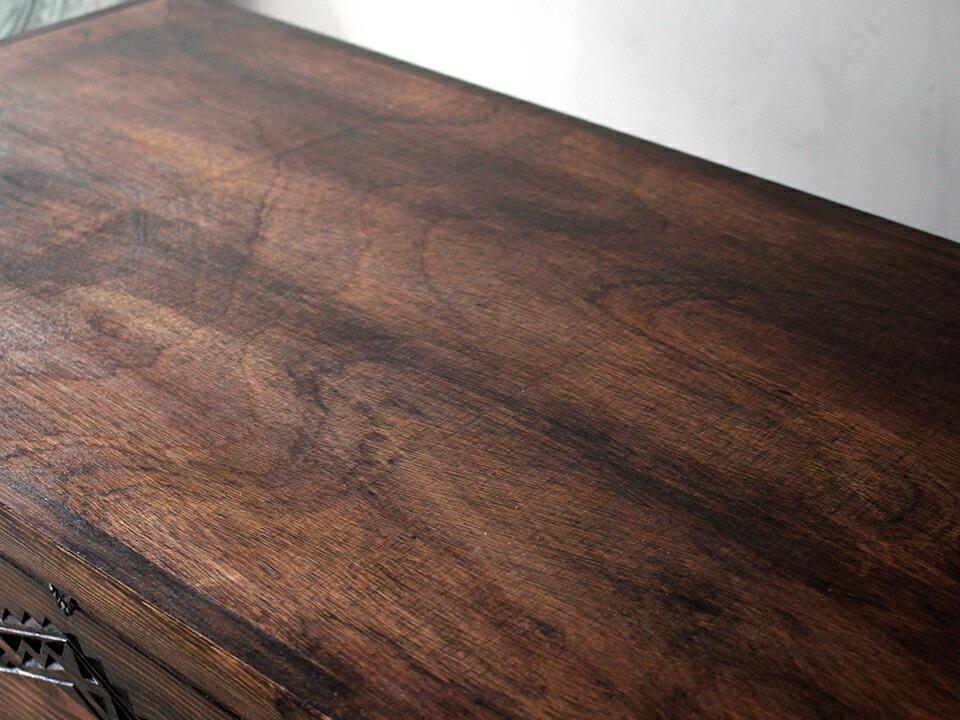 アンティークスタイル・トルコの宝箱サンドゥック・黒海地方の伝統様式 W93×H54.5×D50cm
