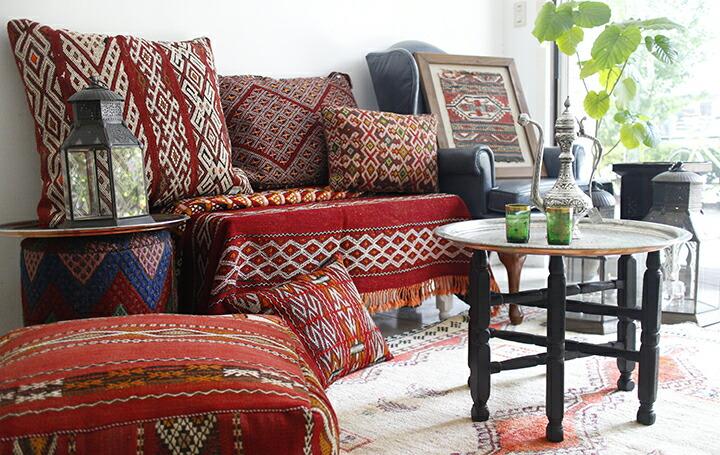 アナトリアのお盆&モロッコクッション