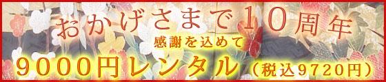 10周年 9000円レンタル