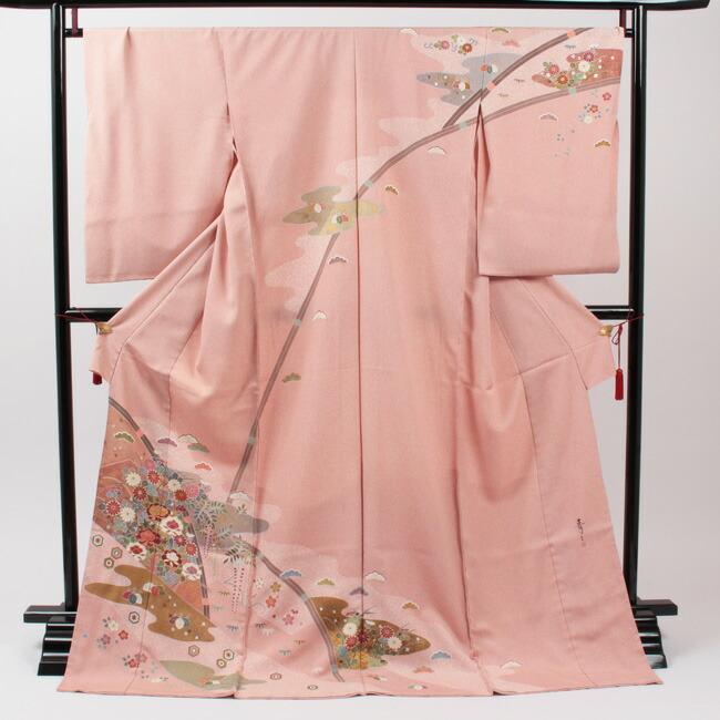京友禅作家 松井青々 特選京友禅訪問着「裂取り四季花文」